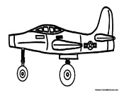 Cool Airplane Coloring Sheet