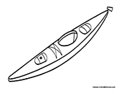 coloring pages kayak | Boats Coloring Pages