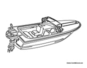 Free Boat Coloring Pages