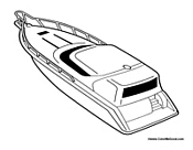 Free Boat Coloring Pages Speed Boat Coloring Pages