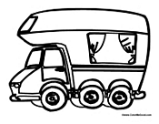 Camper And Rv Coloring Pages