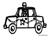 police car coloring pages pdf | Car Coloring Pages