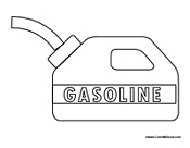 gas station coloring page - photo #11