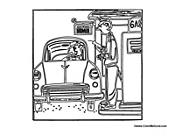 gas station coloring page - photo #32