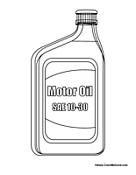 Oil Jar Coloring Page