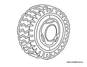 Realistic Car Tire Cutout