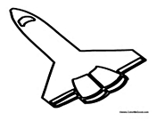 Space Shuttle Coloring Sheet