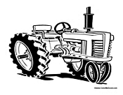 allis chalmers tractor coloring pages - photo#8