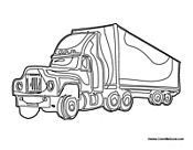 eighteen wheeler coloring pages - photo#21