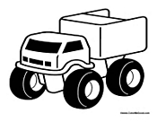Kids Truck Coloring Sheet
