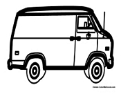 Van Coloring Sheet