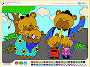 Bear Family Coloring Game